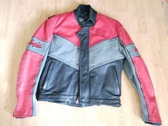 Kawasaki Ninja Racing Motorcycle Leather Jacket Hein Gericke Size 44 for Sale in East Wenatchee,  WA