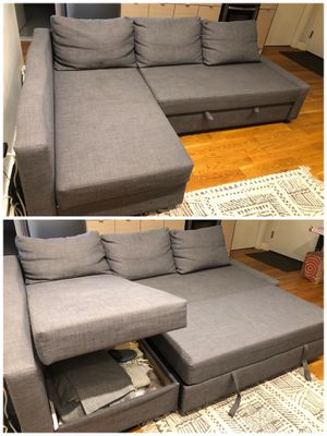 IKEA pullout sectional couch w/ storage for Sale in Brooklyn, NY