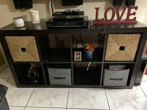 Expresso color TV stand or Book shelving. for Sale in Kissimmee, FL