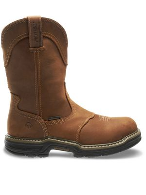 Men's Anthem Waterproof Wellington Work Boots - Soft Toe - Brown Size 7(M) for Sale in Plano, TX