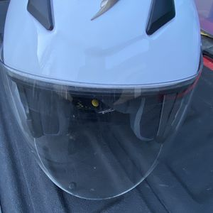 $5Scorpion EXO-200 Open Face 3/4 Helmet White With Bag and Face-Shield Size L for Sale in Issaquah, WA