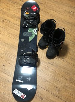 "Flow 4' 3"" Snowboard and Size 13 Men's Boots for Sale in Denton,  TX"