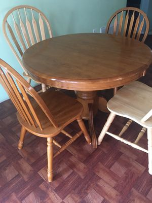 real wood, dining table and 6 chairs good condition for Sale in Hudson, FL