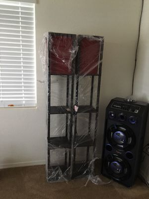 Black and red floor lamps for Sale in Stockton, CA