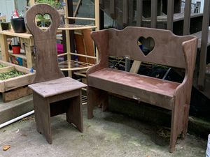 Wooden bench and chair set for Sale in Knoxville, TN