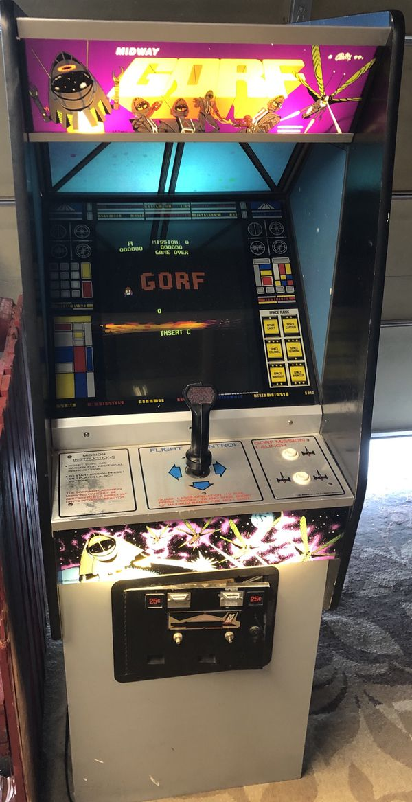1981 Vintage GORF midway Arcade Machine