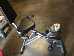 Recumbent Stationary Exercise Bike. Like New! for Sale in Upland, CA