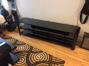 Black Tempured Glass TV Stand for Sale in Boston, MA