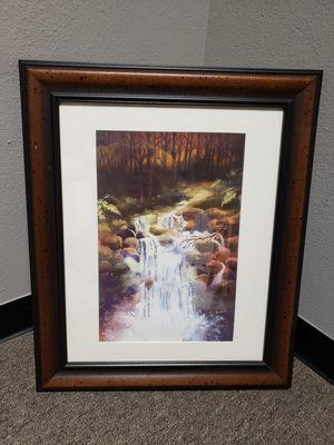 Framed print waterfall for Sale in Eugene, OR