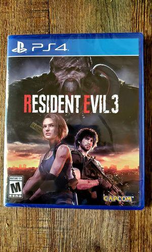Resident evil 3 PS4 for Sale in Mesa, AZ