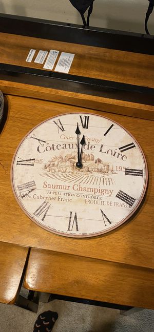 Antique style wood clock for Sale in Sunnyvale, CA