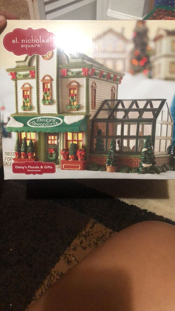 Xmas little town with lights all new in boxes