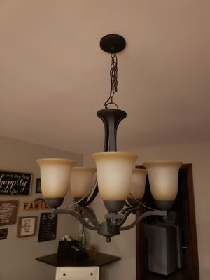 Chandelier 5 bulb bronze light fixture for Sale in Grove City, OH