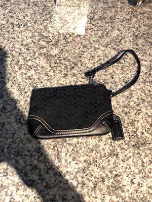 Coach small black wristlet purse handbag for Sale in Miami, FL