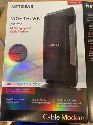 Netgear Nighthawk CM1200 Modem for Sale in Bakersfield, CA
