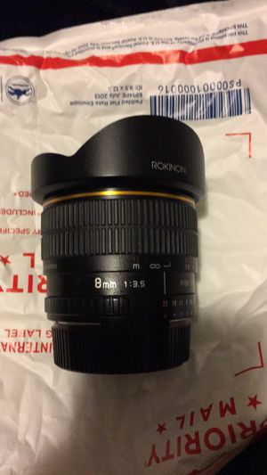 Rokinon 8mm fisheye for Nikon for Sale in Stone Mountain, GA