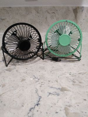 Mini fans $6 for both for Sale in Las Vegas, NV