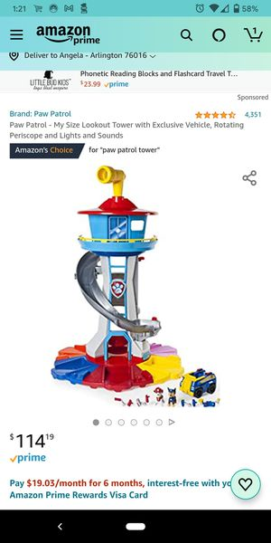 Paw patrol lookout tower, complete set + a few! for Sale in Fort Worth, TX