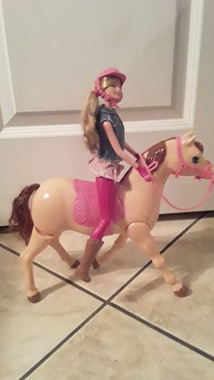 Barbie with Riding Horse...works great with all accessories for Sale in Henderson, NV
