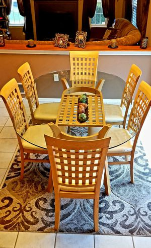 Glasstop and Wood Kitchen Table for Sale in Jackson Township, NJ