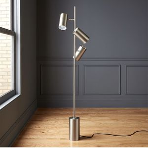 "BRUSHED NICKEL FLOOR LAMP - ""Trio"" CB2 for Sale in Los Angeles, CA"