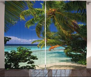 Curtains 108x90 Palm Trees Beach Backdrop Home Decor Tropical Living Bed Room Window Patio Door for Sale in Orlando, FL