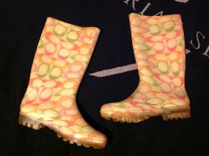 COACH Signature rain boots size 8 new for Sale in Lakeland, FL
