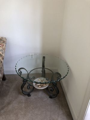 Bassett furniture, sofa, chair, and love seat plus glass coffee table, sofa back, and end table for Sale in Severn, MD