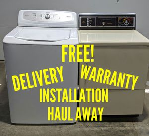 FREE DELIVERY/INSTALLATION/WARRANTY/HAUL AWAY - Haier Washer & Hotpoint Dryer for Sale in Hilliard, OH