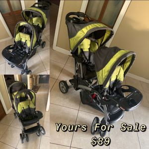 Baby Trend Double Seated Stroller (Green) for Sale in Orlando, FL