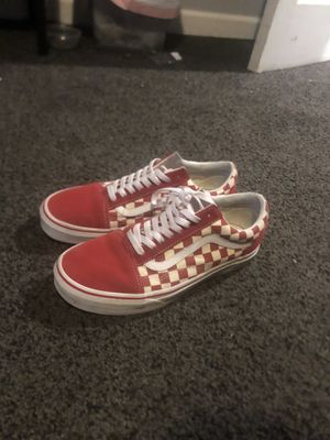 Vans red checkered old skools for Sale in Castro Valley, CA