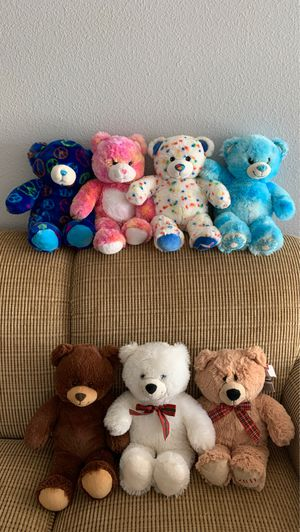 Build a Bear Heart Tye Dye Peace Sprinkle Donut Flurry Jelly Beans Brown White for Sale in Sanford, FL