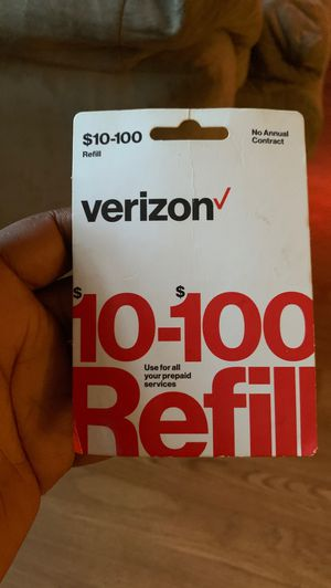 Refill card 100 dollars for Sale in Roanoke, VA