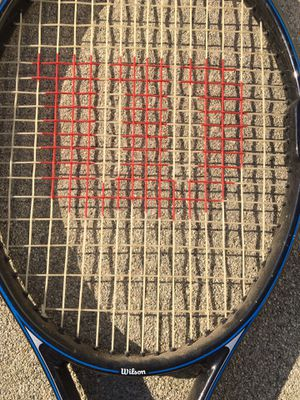 Wilson Tennis Racket- STING- Still has plastic on handle! Great Price! $15.00 for Sale in West Covina, CA