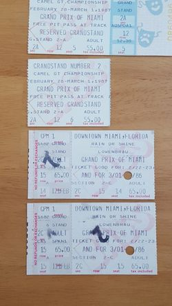Stubs From Grand Prix Of Miami for Sale in Delray Beach,  FL