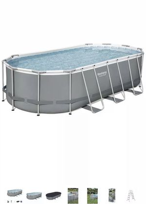 Bestway Power Steel 18 x 9 x 4 Foot Above Ground Swimming Pool Set with Pump for Sale in Winter Park, FL