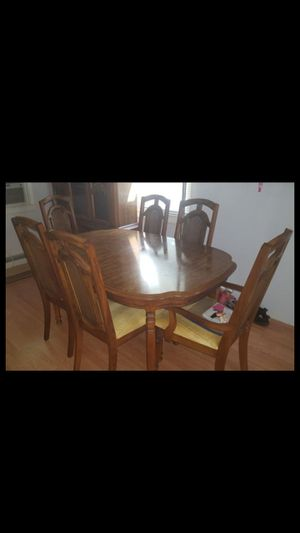 Diningroom Table Chair Hutch Set For Sale In Plymouth CT
