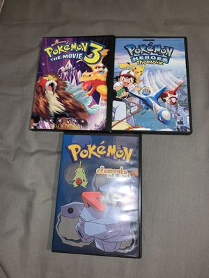 Pokémon movies (lot of 3) for Sale in Chicago, IL