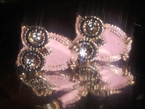 14kt gold ovo diamond earings for Sale in Las Vegas, NV