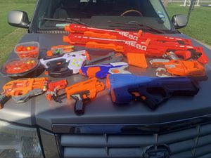 10 Nerf guns with bullets for Sale in Harlingen, TX