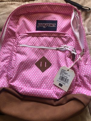 Pink Polka Dot + Stars JANSPORT BACKPACK NEW WITH TAGS for Sale in Oceanside, CA