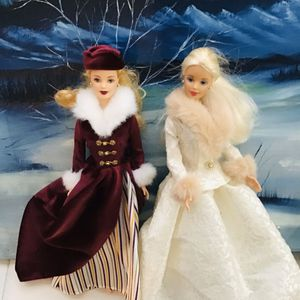 Barbie winter pair with Victoria. ice skater and winter doll for Sale in Garland, TX
