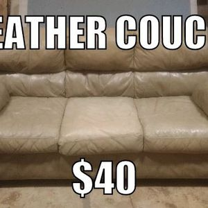 Leather Couch for Sale in Vancouver, WA