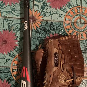 Easton Baseball Bat And Louisville Left Handed Glove for Sale in Los Angeles, CA