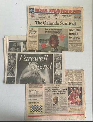 VINTAGE Michael Jordan Chicago Bulls Retirement Collection Newspapers 1993 1999 for Sale in Ocoee, FL