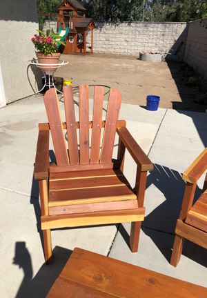California red wood outdoor furniture for Sale in Temecula, CA