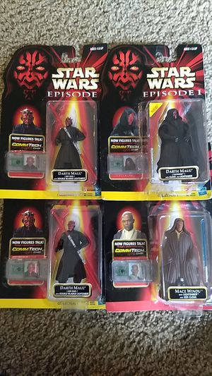 Star Wars Action Figures: Darth Maul and Made Windu for Sale in Austin, TX