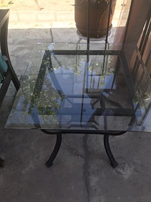 Rod iron and glass coffee table and 2 end tables for Sale in Cypress, CA