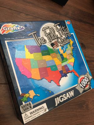 New 50 states puzzle - 1000 pieces. Gift. Teach geography. for Sale in AZ, US