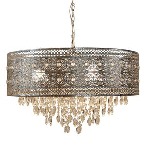 Brielle 3-Light Silver Chandelier with Polished Nickel and Crystal Shade by River of Goods NEW for Sale in Plantation, FL
